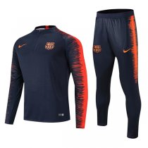 1819 Barcelona Black Sleeve Orange Print Tracksuit