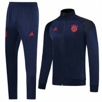 19-20 Bayern Munich All Navy High Neck Jacket Kit