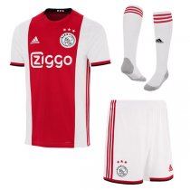 19-20 Ajax Home Soccer Jersey Men Full Kit (Shirt+Short+Sock)