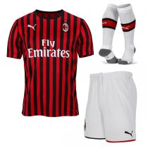 19-20 AC Milan Home Soccer Jersey Men Full Kit(Shirt+Short+Socks)