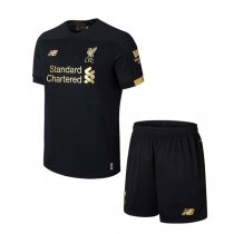 19-20 Liverpool Black Goalkeeper Kids Kit