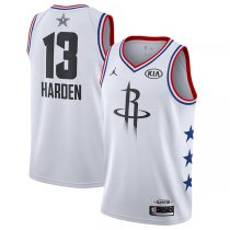 2019 All star Jordan Houston Rockets #13 James Harden Jersey White