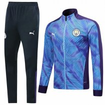 19-20 Manchester City Purple Zebra Pattern Jacket Kit