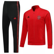 19-20 Manchester United V-Neck Red Jacket Kit