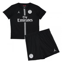 1819 PSG Jordan Third Home Black Kids Kit