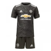 20-21 Manchester United Away Jersey Kids Kit