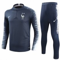 2018 Two Star France Navy Sleeve Print Tracksuit