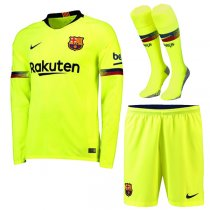 1819 Barcelona Away Long Sleeve Jersey Full Kit