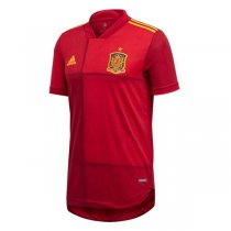 2020 Euro Cup Spain Home Authentic Soccer Jersey (Player Version)