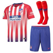 1819 Atletico Madrid Home Soccer Jersey Full Kit(Shirt+Short+Sock)