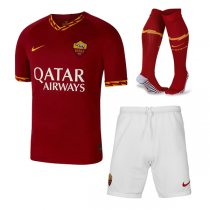 19-20 AS Roma Home Soccer Jersey Men Full Kit (Shirt+Short+Socks)