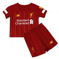 19-20 Liverpool Home Red Soccer Jersey Kid Kits