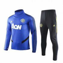 19-20 Manchester United Blue High Neck Training Suit