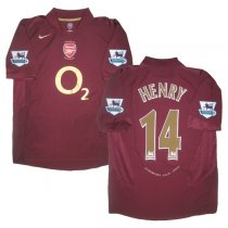 2005-2006 Arsenal Home Retro Jersey HENRY #14 Shirt