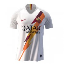 19-20 AS Roma Away Authentic White Soccer Jersey (Player Version)