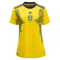 2019 Sweden Women Home Jersey Shirt