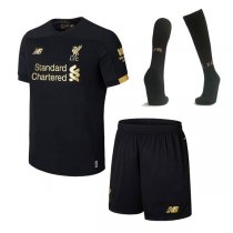 19-20 Liverpool Black Goalkeeper Kids Full Kit