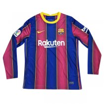 20-21 Barcelona Home Long Sleeve Soccer Jersey