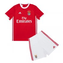 19-20 SL Benfica Home Red Soccer Jersey Kids Kit