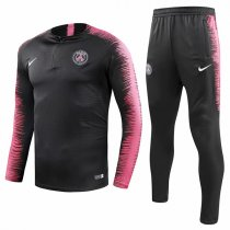1819 PSG Black Sleeve And Pant Pink Tracksuit