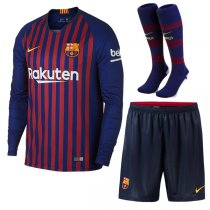 1819 Barcelona Home Long Sleeve Jersey Full Kit