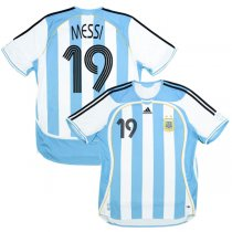 2006 Argentina Home Retro Soccer Jersey Shirt Print MESSI #10