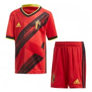 2020 Euro Cup Belgium Home Soccer Jersey Kids Kit