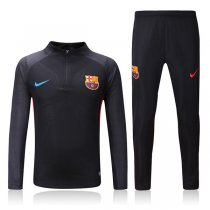 1718 Barcelona Black Sleeve Stripe Tracksuit