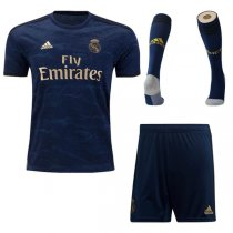 19-20 Real Madrid Away Soccer Jersey Full Kit(Shirt+Short+Socks)