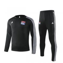 19-20 Lyon Black Round Neck Training Suit