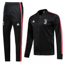 19-20 Juventus Black V-Nexk Jacket Kit