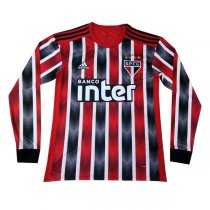 19-20 Sao Paulo Away Long Sleeve Soccer Jersey Shirt