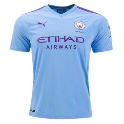 19-20 Manchester City Home Blue Soccer Jersey Shirt