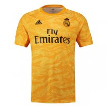 19-20 Real Madrid Home Goalkeeper Yellow Soccer Jersey