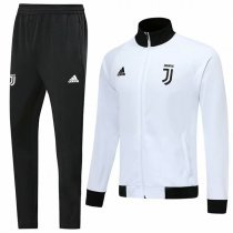 19-20 Juventus White Black Collar High Neck Jacket Kit