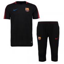 1718 Barcelona Squad Training Kit Black (shirt + short)