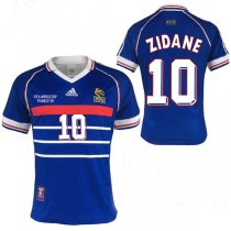 1998 World Cup France Retro Home Final Jersey