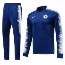 1819 Chelsea Blue Sleeve White Training Jacket Kit