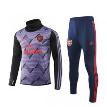 19-20 Arsenal Purple Print High Neck Training Suit