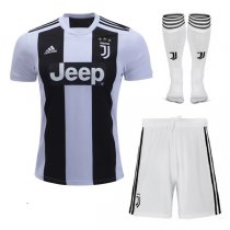 1819 Juventus Home Soccer Jersey Football Full Kit