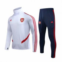 19-20 Arsenal White High Neck Training Suit