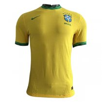 2020 Brazil Home Authentic Yellow Soccer Jersey (Player Version)