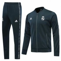 19-20 Real Madrid Navy V-Neck Jacket Kit