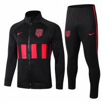 19-20 Atletico Madrid Black High Neck Jacket Kit