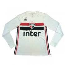 19-20 Sao Paulo Home White Long Sleeve Soccer Jersey Shirt