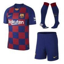 19-20 Barcelona Home Soccer Jersey Men Full Kit (Shirt+Short+Socks)