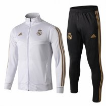 19-20 Real Madrid All White High Neck Jacket Kit