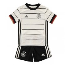 2020 Euro Cup Germany Home Soccer Jersey Kids Kit