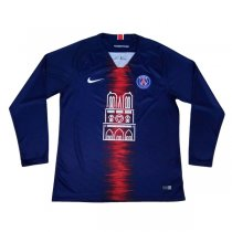 1819 PSG Home Jersey Long Sleeve NOTRE-DAME Version