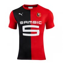 19-20 Rennes Home Red Soccer Jersey Shirt